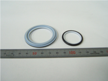 Composite product of PTFE + Rubber